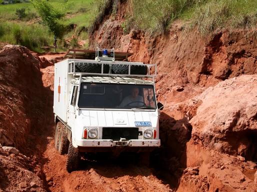 Teherautó Kongóban, Kép: Dr. Hardi Richárd