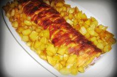 bacon, csirkemell, sajt, tejföl