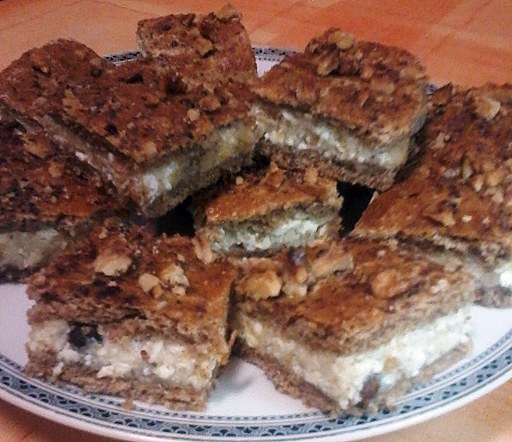 Diétás túrós sütemény, Kép: Fajcsák Sándorné