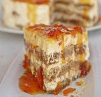 Amaretto, babapiskóta, krémsajt, tejszín, tiramisu, torta