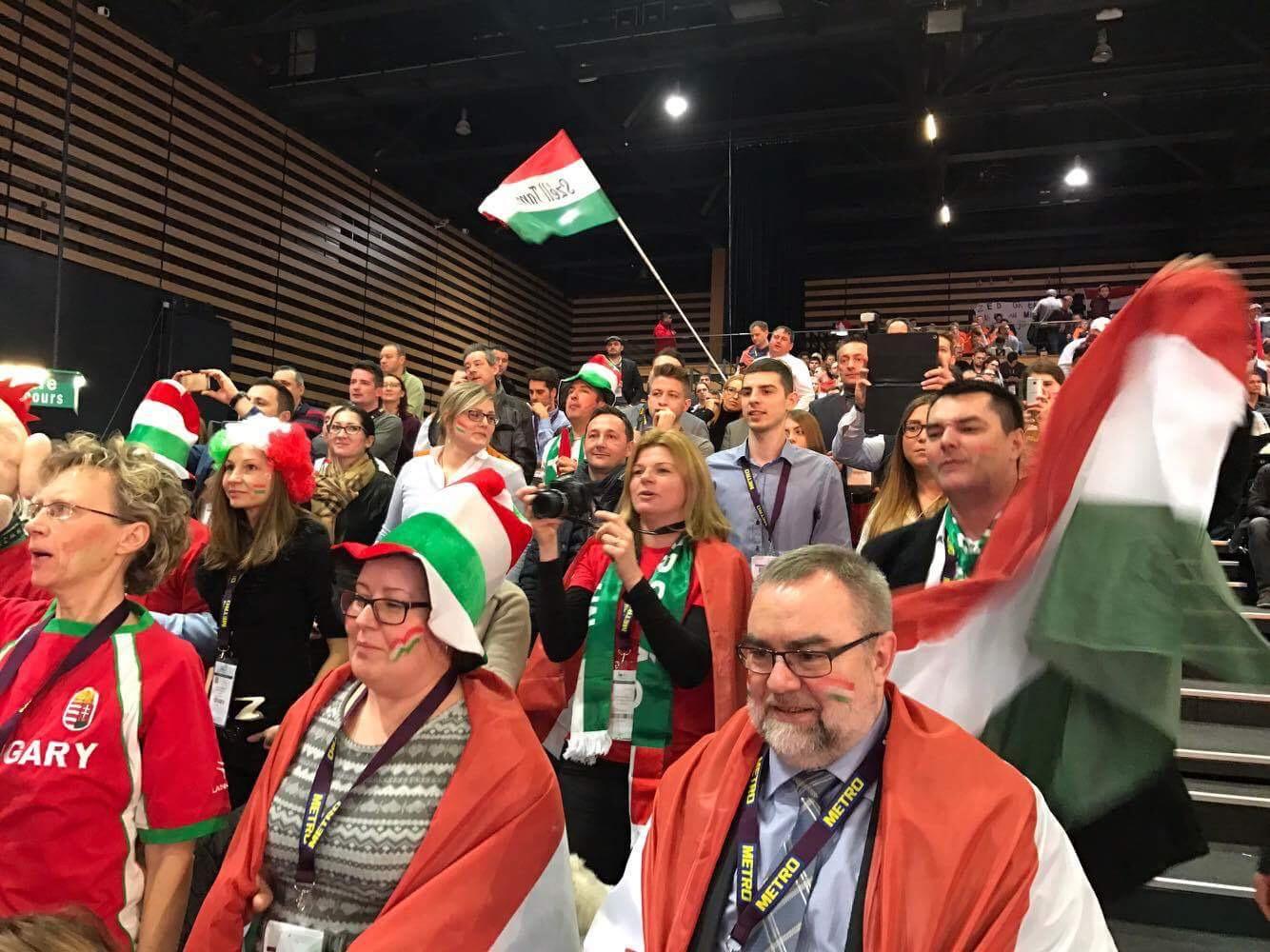 Magyar szurkolók Kép Varga Veronika