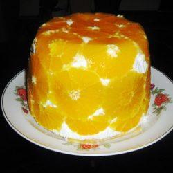 narancs, torta, túró, túrótorta, zselatin