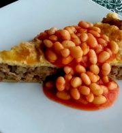 bab, darált hús, leveles tészta, paradicsomlé, pite, skót