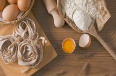 barack lekvár, búzadara, gríz, grízes tészta, tészta