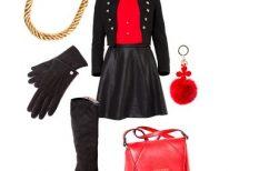 arnya, divat, fekete, piros, sikk, stylist, tanácsadás, tél vége