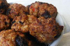 aszalt szilva, darált hús, egzotikus, fasírt