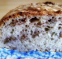 diós, fehér kenyér, kenyér, kenyérsütés otthon