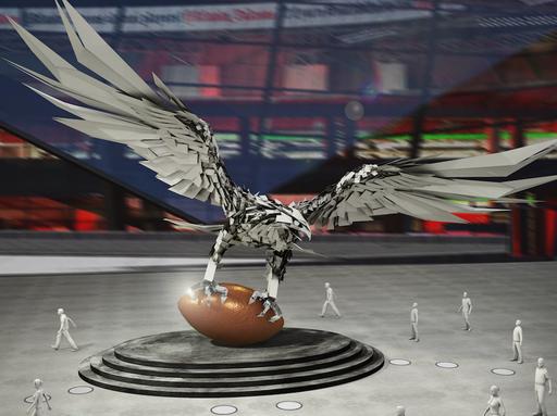 Falcon-szobor lárványterve, Kép: sajtóanyag