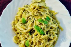 dió, gorgonzola, sajt, tagliatelle, tészta