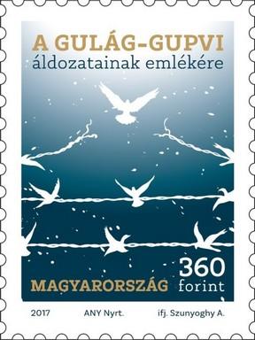 Gulág bélyeg, Kép: Magyar Posta