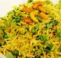 biryani, hagyma, kesudió, pilaf, rizs