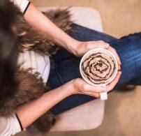 csokoládé, kávé, különlegesség, tejszínhab, Valenti-nap
