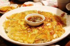 koreai, palacsinta, rizs, sárgaborsó