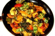 hagyma, kaliforniai paprika, sárgarépa, szárzeller