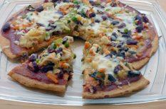 egészséges, gluténmentes, pizza, quinoa