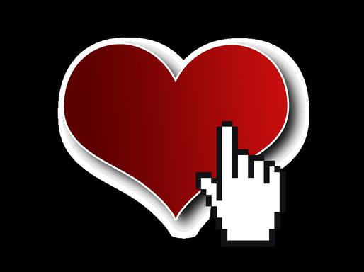 Szív internetes kézzel, Kép: pixabay