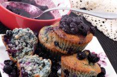 áfonya, kókuszzsír, muffin