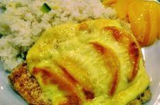 csirke, dió, konzerv, őszibarack, sajt