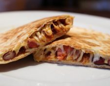 bab, mexikói, quesadilla, tortilla