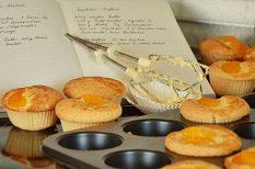 aszalt, citrom, muffin, sárgabarack