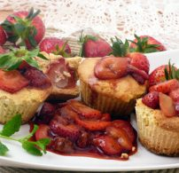 cukormentes, eper, gluténmentes, muffin