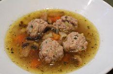 darált hús, gomba, leves, zöldség