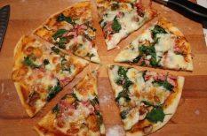 házi készítésű, otthon, piza