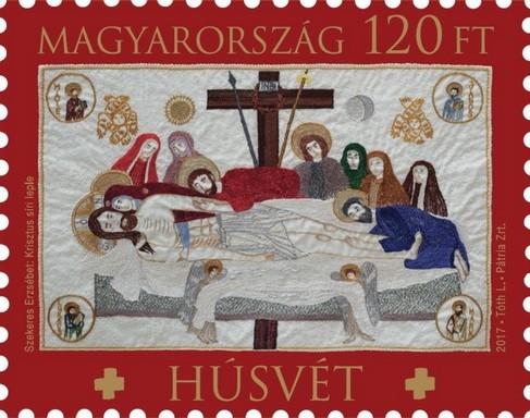 Húsvét bélyeg, 2017, Grafika: Tóth László