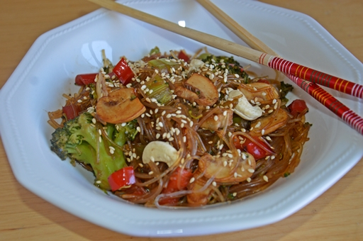 Kínai rizstészta zöldségekkel, Kép: Kandikó Éva