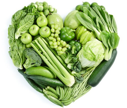 Szív zöldségekből, gyümölcsökből, Kép: Weleda