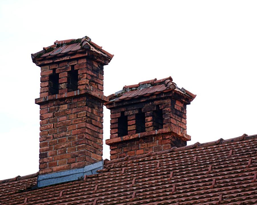 Tető és kémény, Kép: pixabay