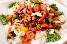 egészséges, rizstészta, tészta, thai, zöldség