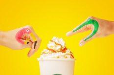 kávé, latte, makadámdió, Starbucks, újdonságok szirupok