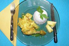 csirke, curry, főzőtejszín, svájci fogás