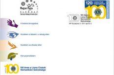 alkalmi bélyeg, Lions Clubok, Magyar Posta, Nemzetközi Szövetsége