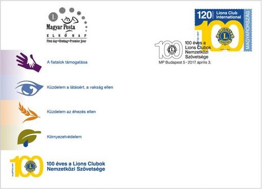 100 éves a Lions Clubok Nemzetközi Szövetsége, Kép: Magyar Posta