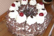 csoki, étcsokoládé, Feketeerdő, kakaó, meggy, puding, torta