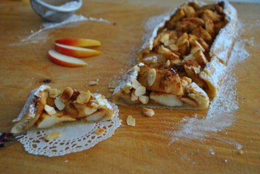 Francia hajtott almás pite, Kép: receptguru.cafeblog.hu