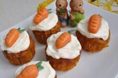 cupcake, húsvét, marcipán, mascarpone, répa
