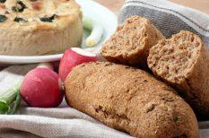bagett, egészséges, hosszú kelesztés, kenyér, teljes kiőrlésű