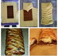 csokoládé, leveles tészta, rétes