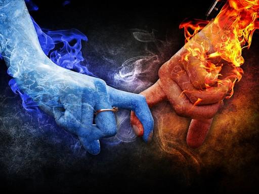 Szerelem, ujjak tűz és jég, Kép: pixabay