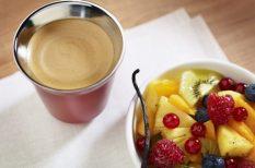 gyümölcs, húsvét, kávé, Nespresso, saláta, tavasz