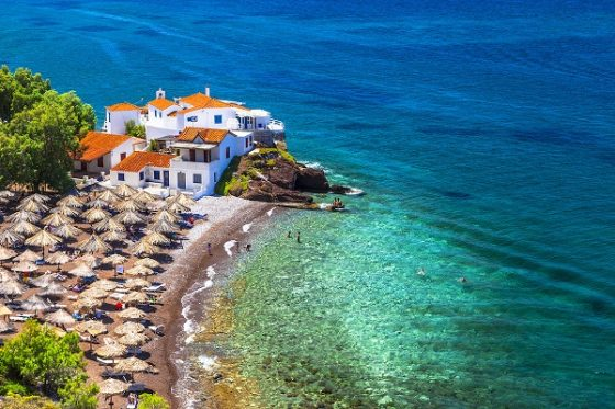 beautiful beaches of Greece-Vlychos on Hydra island
