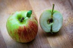 alma, fahéj, leves, tejszín