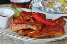 barbeque, BBQ, grill, hétvége, oldalas