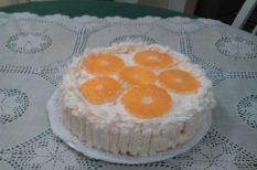 citrom, gyümölcs, piskóta, tejszínhab, torta