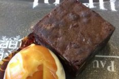 brownie, édesség, fagyi, kakaó