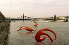duna, Farkas Zsófia, installáció, képzőművészet, Nagy halak emlékezete