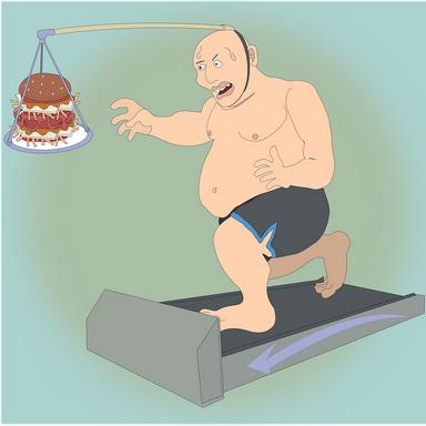 Fogyókúra karikatúra, Kép: pixabay